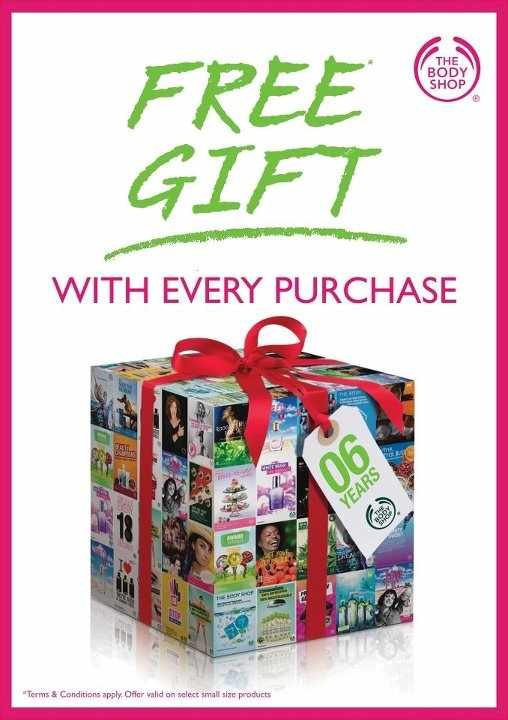 The Body Shop 6th Birthday Offer Free Gift With Every Purchase