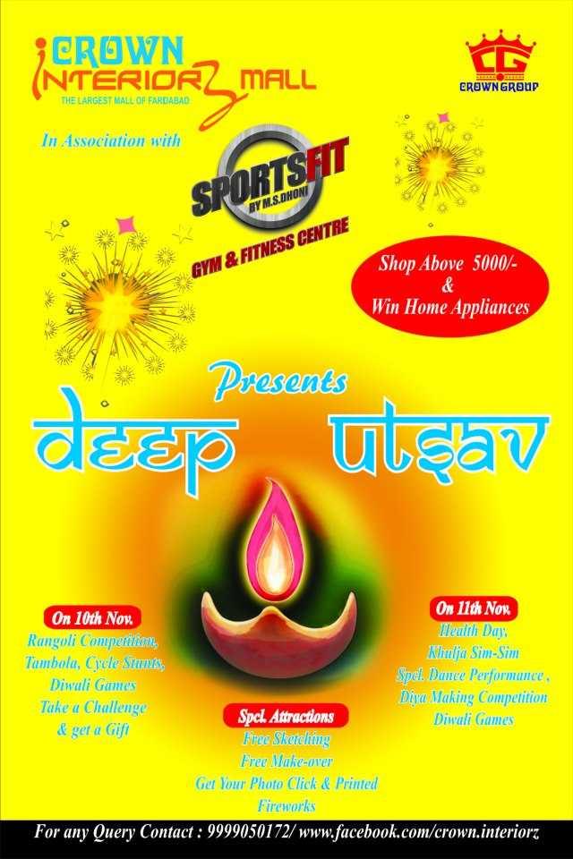 Deep Utsav On 10 Amp 11 November 2012 At Crown Interiorz Mall Faridabad Events In Delhi Ncr