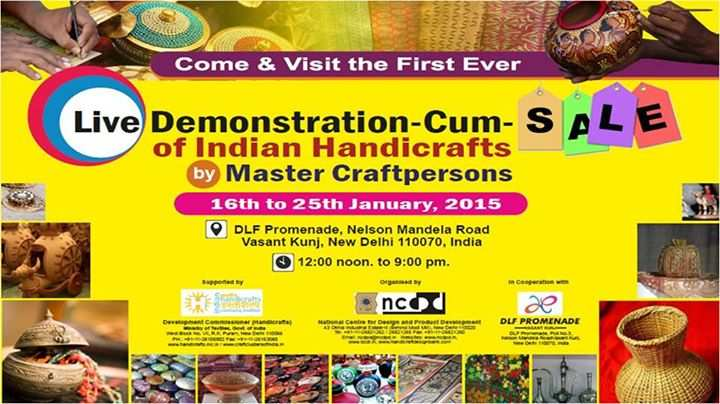 Indian Handicrafts Fair At Dlf Promenade From 16 To 25 January 2015