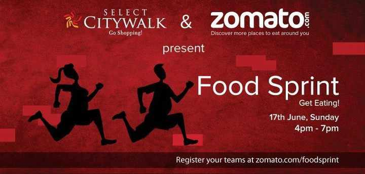 Select CITYWALK and Zomato present Food Sprint on 17th ...