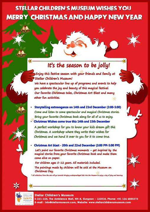 christmas events for kids in gurgaon christmas stories extravaganza 14 december 2013 stellar