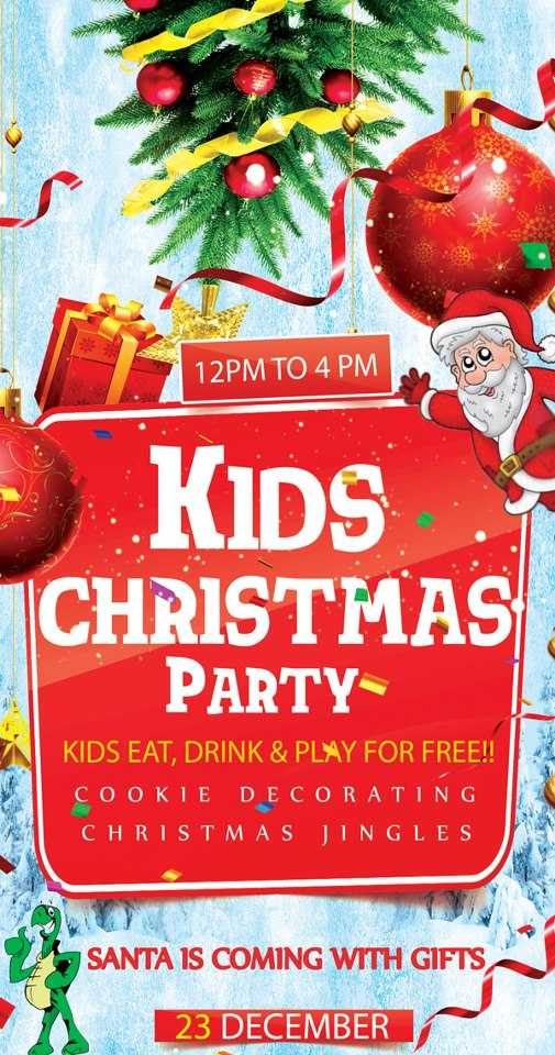 kids christmas party on 23 december 2012 at underdoggs. Black Bedroom Furniture Sets. Home Design Ideas