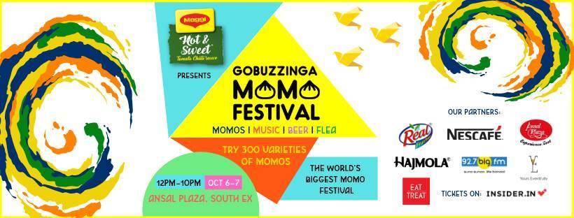 32686ed8393d GoBuzzinga Momo Festival at Ansal Plaza Delhi 6th - 7th October 2018