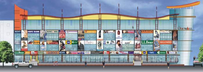 Ping Mall Plan Elevation Section : One mall indirapuram shopping malls in delhi ncr