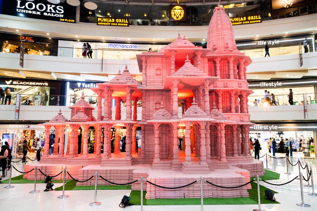 Ram Temple Replica at Pacific Mall Tagore Garden