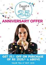 Celebrating 25 years of Fashion! Exciting offer on Baggit's 25th Birthday !!!