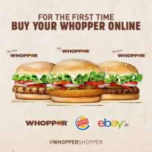 Burger King India Exclusive offer on eBay - Flat price + Whopper t-shirts