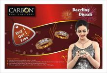 Diwali Deals in New Delhi, Ghaziabad - Dazzling Diwali Offer Buy 1 Get 1 Free at CARBON - Fine Jewellery