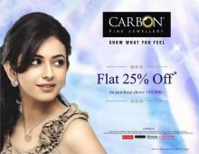Deals on Jewellery  - Carbon Fine Jewellery Summer Discounts on Purchases above Rs.10000
