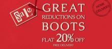 Enjoy reductions on winter boots for the first time for the loved ones of Clarks. Avail flat 20% off from January 10 onwards across all Clarks outlets.