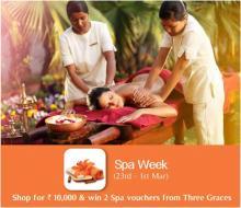 Spa Week, DLF Promenade, 23 Feb - 1 Mar 2013, Win Spa vouchers, Three Graces Spa, offers, deals