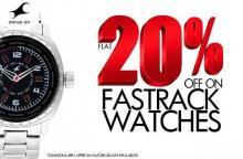 Get Flat 20% off on Fastrack Watches until 18 November 2012.
