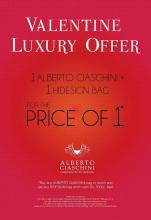 Valentine Luxury Offer in select HIDESIGN stores in Delhi from 9 to 28 Feb 2013