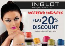 Inglot Weekend Madness - Flat 20% Discount Valid only in Select CITYWALK, Saket