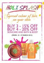 Holi Offers, The Body Shop, 23 to 27 March 2013.