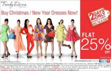 Christmas & New Year Outfits - Flat 25% off on 1 & 2 December 2012 at Trendy Divva