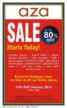 aza - exclusive designer wear on sale - Upto 80% off from 17 to 20 January 2013 at Delhi Stores