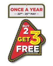 Brand Factory Celebrates EID With 'Once A Year – Buy 2 Get 3 Offer'  22nd May - 26th May 2019
