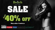 Bwitch End of Season Sale - Flat 40% off at Bwitch exclusive outlets in DLF Place Saket, DLF Promenade in Vasant Kunj, GK-1 & Southpoint Mall, Golf Course Road, Gurgaon. Offer also available at Central & Pantaloon stores across India. Shop like a Star..