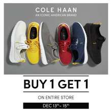 BUY 1 GET 1 On ENTIRE store!Shop for Iconic American footwear brand atSelect CityWalk,DLF Mall of India Valid till 15th December 2019. T&C.