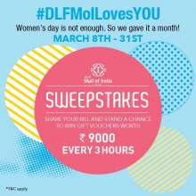 #DLFMoILovesYOU Sweepstakes  8th - 31st March 2018