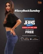 Fbb National Jeans Day - Sexy back Sunday  15th December 2019