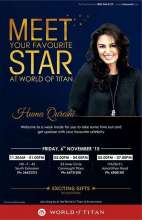 Events in Delhi - Celebrate the Joy Of Time with Titan from 4 to 11 November 2015. Meet actress Huma Qureshi on 6 November 2015