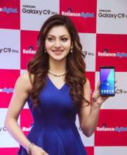 Ravishing Urvashi Rautela  wearing CoverStory for the launch of Samsung Galaxy C9 Pro in Delhi