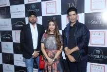 Manish Malhotra with Falguni & Shane Peacock at Vogue Wedding Show at Taj Palace, New Delhi
