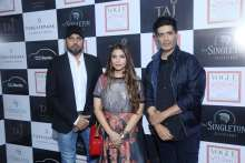 Manish Malhotra with Falguni & Shane Peacock at Vogue Wedding Show at Taj Palace, New Delhi